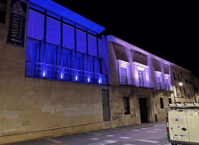 electricidad bayón - iluminación entrada museo